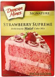Duncan Hines Moist Deluxe Strawberry Cake Mix