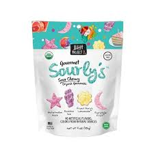 New! Project 7 Chewy Gummies Sourly's Sour Mix  - 4oz