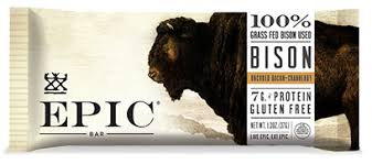 New! EPIC Bison Uncured Bacon and Cranberry Protein Bar - 4pk