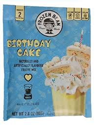 Frozen Bean Birthday Cake Latte Mix 2.8oz