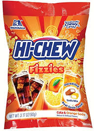 New! Hi Chew Fizzies Cola & Orange Soda