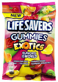 Life Savers Gummies Exotics Flavours of the World