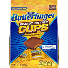Butterfinger Peanut Butter Cups Smooth and Crunchy -  Fun Size 10.5oz