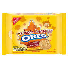 New! Oreo Limited Edition Maple Creme  - 12.2oz