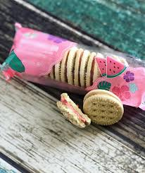 New! 7-11 Watermelon creme filled Cookies