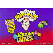 Warheads Chewy Cubes Assorted Flavours - Theatre Box