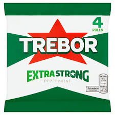 New! Trebor Extra Strong Peppermint - 4 Pack