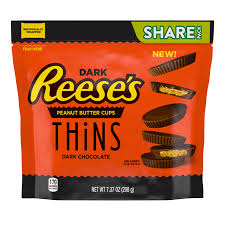 New! Reese's Peanut Butter Cups Thins Dark Chocolate - 7.4oz