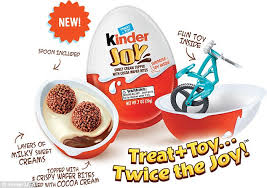 New! Kinder Chocolate Egg Surprise Joy Treat & Toy - American