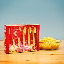 New! Archie McPhee Mac & Cheese Candy Canes