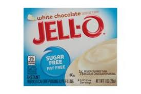 Jello Sugar Free Fat Free White Chocolate Pudding Mix