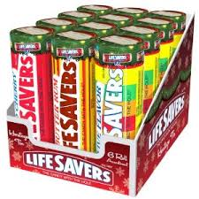 New! Life Savers 6 Roll Assortment Retro Tin