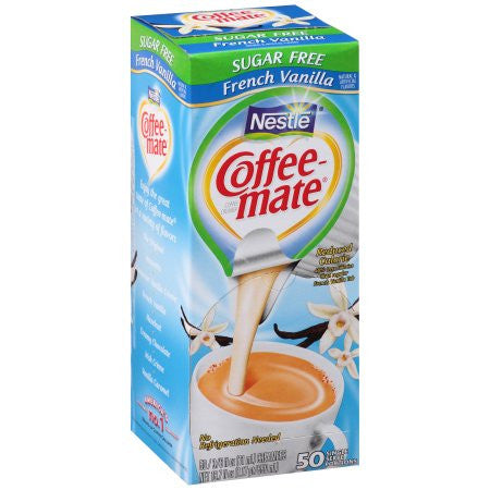 Coffee-Mate Sugar Free French Vanilla Reduced Calorie - 50 single serve