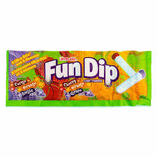 New! 3 Flavour Fun Dip- Cherry, Orange, and Grape 1.4oz
