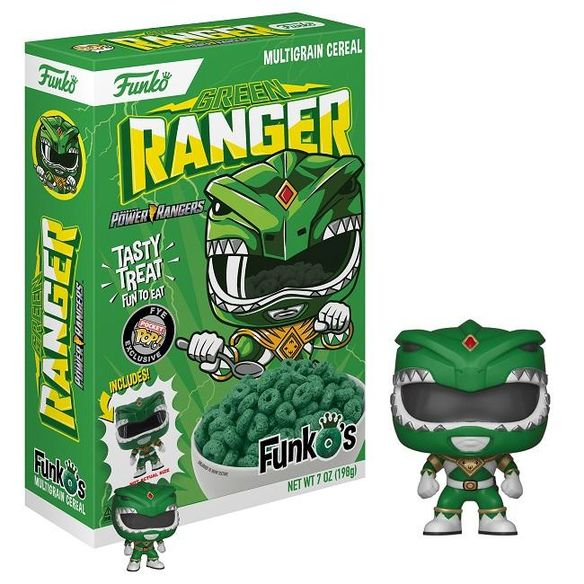 New! Green Ranger Power Ranger Cereal - Includes funko Pocket Pop!
