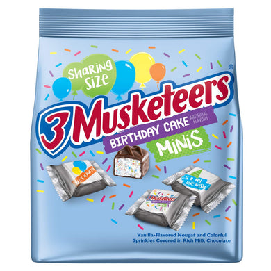 New! 3 Musketeers Birthday Cake Minis Sharing Size 8.4oz