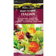 New! Walden Farms Sugar Free Calorie Free Italian Dressing - Single Serve