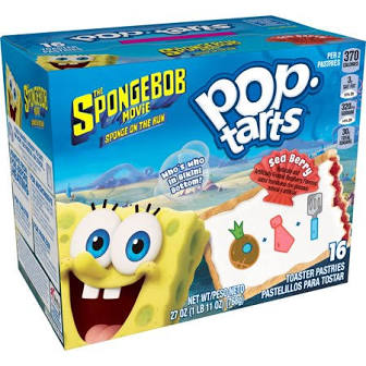 New! Pop Tarts Sponge Bob Sea Berry -16ct