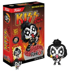 New !  KISS Funko Cereal - Includes Funko Pocket Pop!