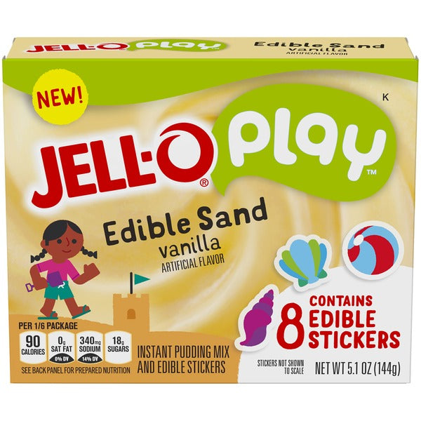 New! Jell-O Play Edible Sand Pudding Mix