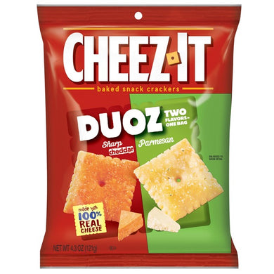 New ! Cheez It Duoz Sharp Cheddar & Parmesan- 4.3oz