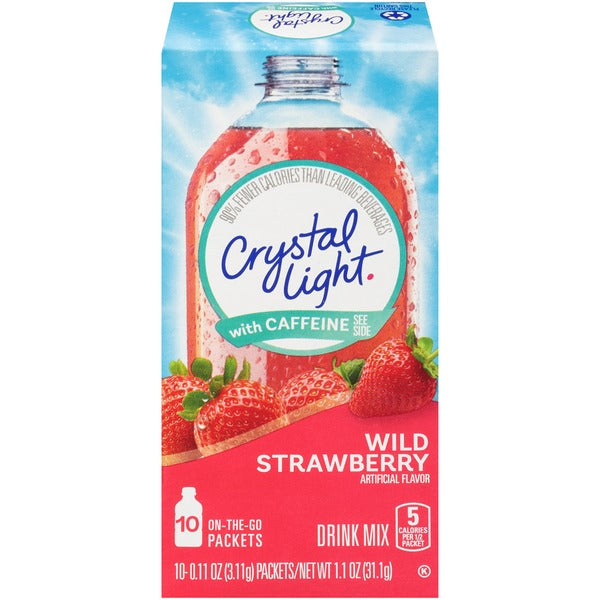 Crystal Light with Caffeine Wild Strawberry