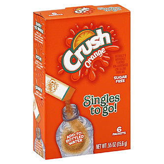 Crush Sugar Free Singles To Go! Orange