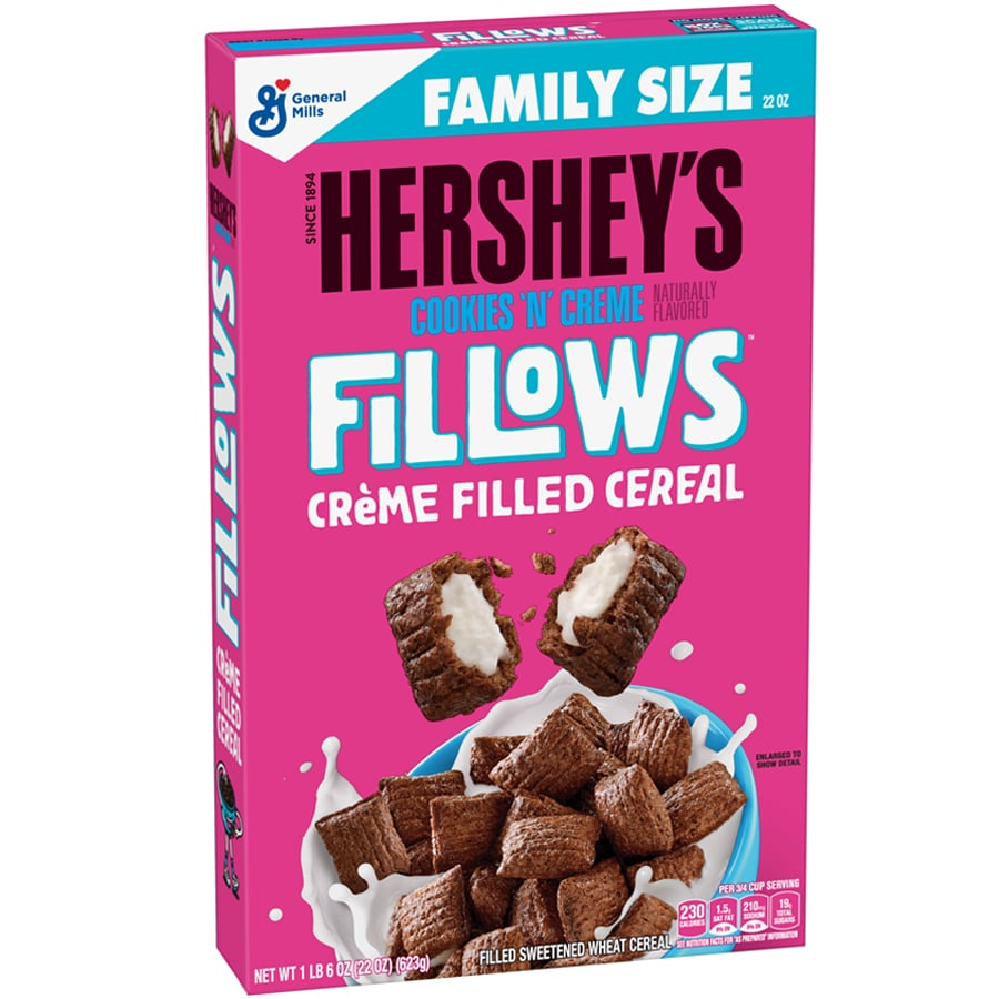 New! Hershey's Cookies & Creme Fillows Cereal - 22oz