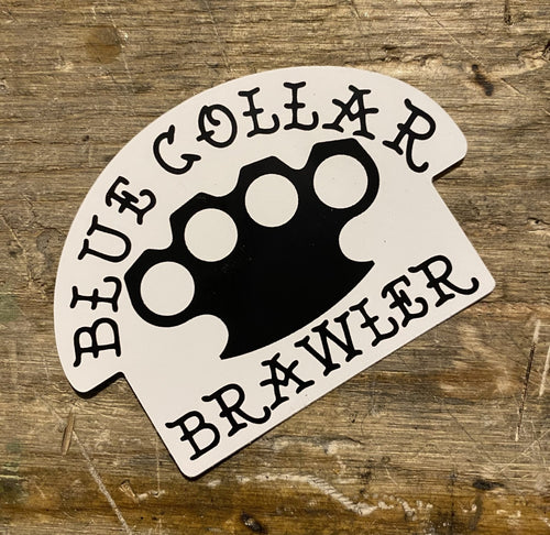 Blue Collar Brawler Sticker - Heavy Barrel Designs