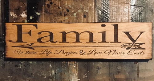 Family Sign - Heavy Barrel Designs