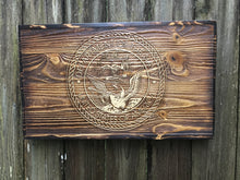 Navy Wooden Flag - Heavy Barrel Designs