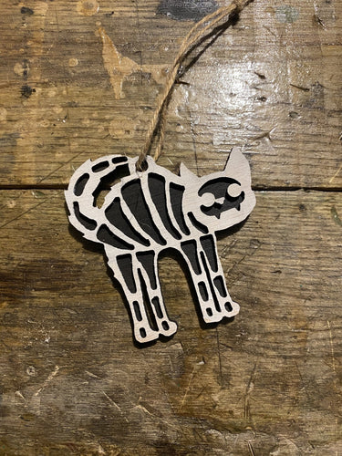 Skeleton Cat Ornament - Heavy Barrel Designs