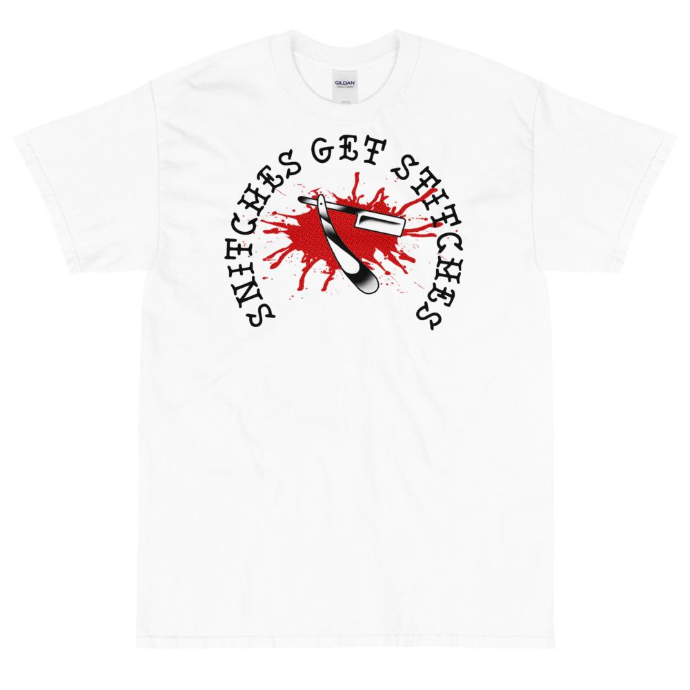 Snitches Get Stitches Short Sleeve T-Shirt - Heavy Barrel Designs