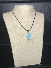 Turquoise Cross Necklace - Heavy Barrel Designs