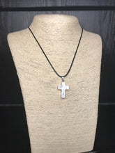 White Turquoise Cross Necklace - Heavy Barrel Designs