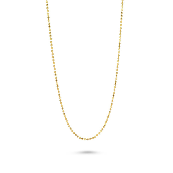 18K YELLOW GOLD VERMEIL BEAD BALL CHAIN