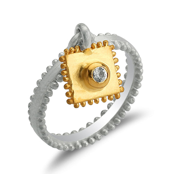 Delicata Charm Band Ring