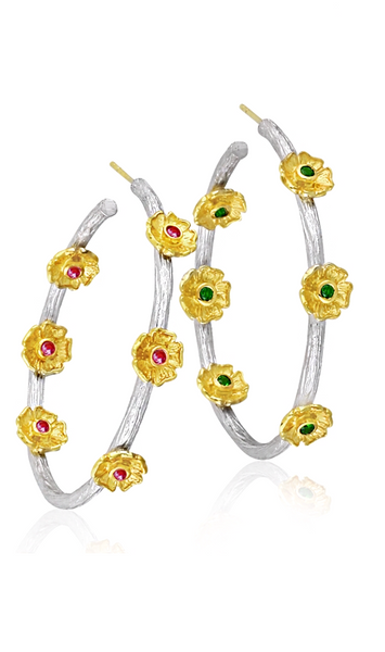 Primrose Hoop Earrings