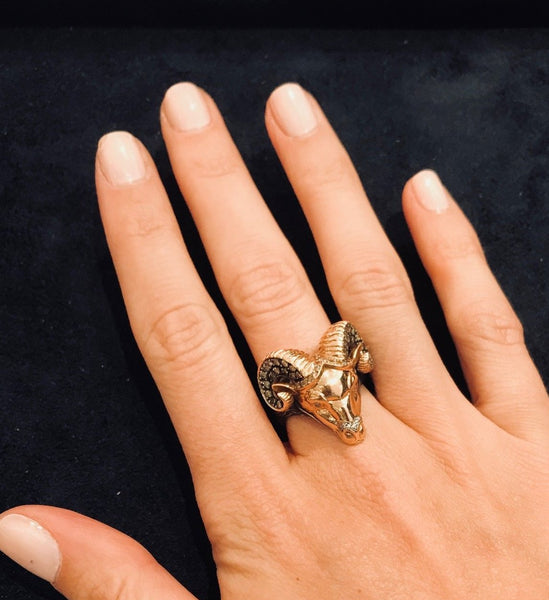 TARU RAM RING ROSE GOLD