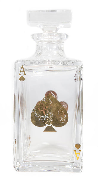 Vista Alegre Crystal Poker Decanter