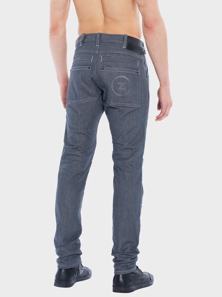 Protective motorcycle riding jeans with stretch by ZIN Motowear. Model A537.