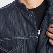 B56 - Abrasion-Resistant Vest with Ultra Strong Denim - Navy