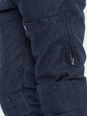 Protective motorcycle riding jeans with stretch with Dyneema® by ZIN Motowear. Model R66. Side vent.