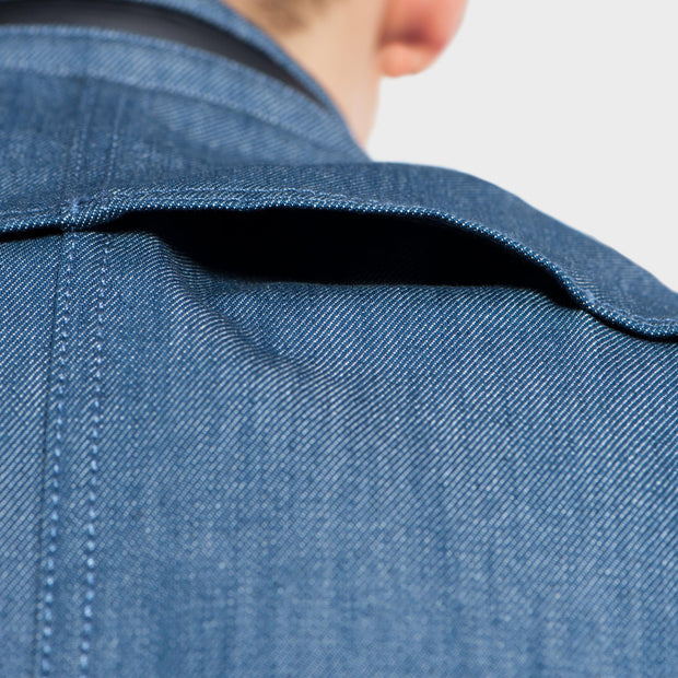 SS163 - Abrasion-Resistant Stretch Denim Jacket - Aqua