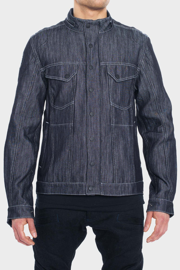 SS163 - Abrasion-Resistant Jacket with Ultra Strong Denim - Navy