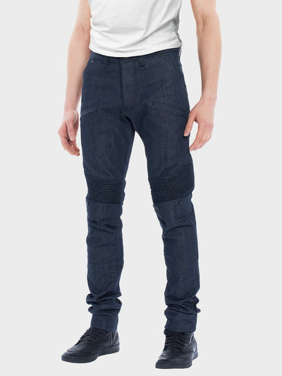Protective motorcycle riding jeans with stretch with UHMWPE by ZIN Motowear. Model A537.