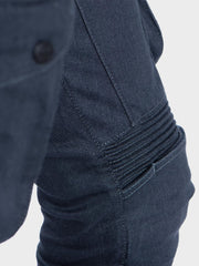 Protective motorcycle riding jeans made of stretch denim with UHMWPE by ZIN Motowear. Model CITY.