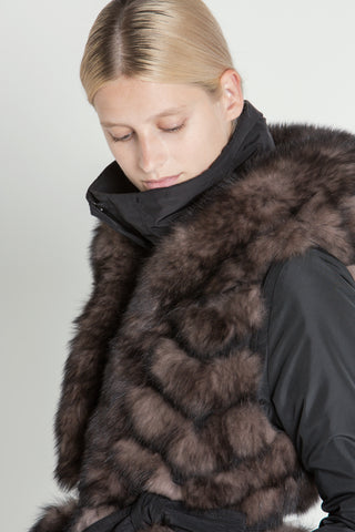 Parker Jacket with detachable hooded fur gilet