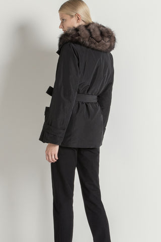 Parker Jacket- reversible with detachable hooded fur gilet