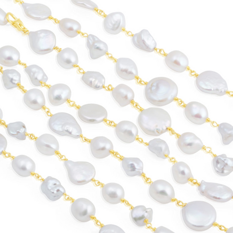 Magritte Pearl Chain Necklace Trio